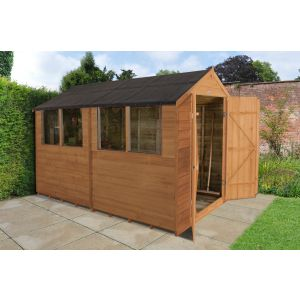 Image for Forest Overlap Dip Treated Pent Garden Shed - 10 x 6 ft