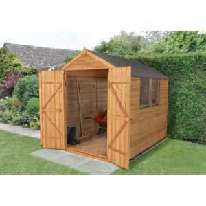 Image for Forest Overlap Dip Treated Apex Garden Shed - 8 x 6 ft