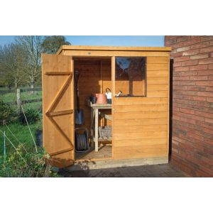 Image for Forest Overlap Dip Treated Pent Garden Shed - 6 x 4 ft