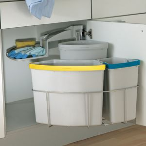 Image for Oeko Centre Kitchen Swing Out Waste Bin 39 Litre