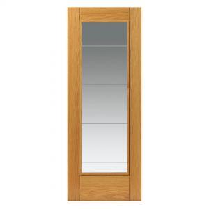 Image for JB Kind Oak Medina Glazed Pre-Finished Internal Door