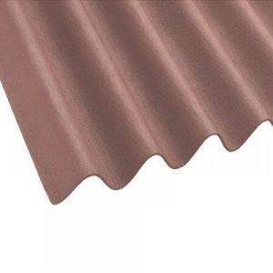 Image For Onduline Corrugated Brown Bitumen Roof Sheet - 2m x 950mm