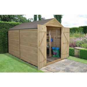 Image for Forest Overlap Pressure Treated Apex Garden Shed - 10 x 8 ft