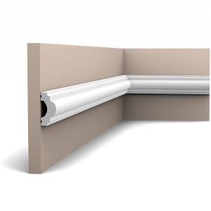 Orac Décor Plain Duropolymer Dado Rail / Panel Moulding - 19 x 40 x 2000mm