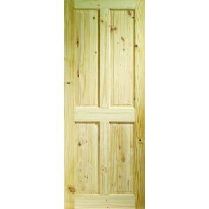 Knotty Pine 4 Panel Internal Door - 78in x 30in x 35mm (1981 x 762mm)