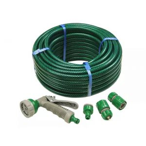 Image For Faithfull PVC Reinforced Hose - 15m - Fittings & Spray Gun