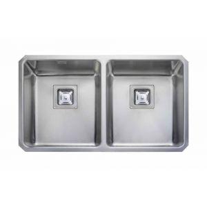 Image for Rangemaster Atlantic Quad 2 Bowl Stainless Steel Undermount Sink
