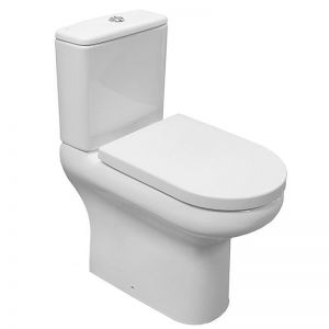 Image For RAK Compact Extended Deluxe Rimless Full Access Close Coupled WC