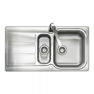 Image for Rangemaster Glendale 1.5 Bowl Brushed Stainless Steel Sink  - Reversible