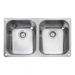 Image for Rangemaster Atlantic Classic 2 Bowl Stainless Steel Undermount Sink