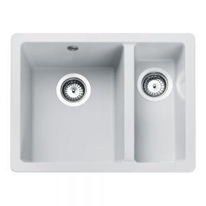 Image for Rangemaster Paragon 1.5 Bowl Igneous Crystal White Sink