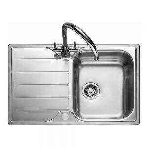 Image for Rangemaster Michigan Compact Single Bowl Stainless Steel Kitchen Sink - Reversible
