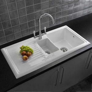 Reginox RL301CW 1.5 Bowl White Ceramic Kitchen Sink