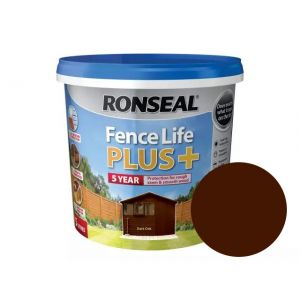 Image For Ronseal Fence Life Plus+ - Dark Oak - 5L