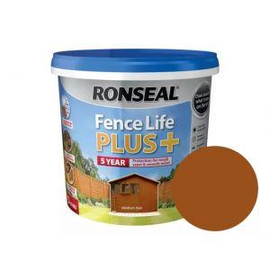 Image For Ronseal Fence Life Plus+ - Medium Oak - 5L
