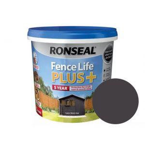 Image For Ronseal Fence Life Plus+ - Tudor Black Oak - 5L