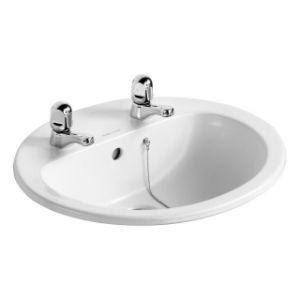 Image for Armitage Shanks Orbit 21 550mm 2TH Countertop Washbasin S248801