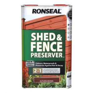 Ronseal Shed & Fence Preserver - Black - 5L
