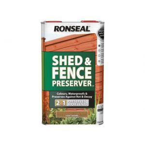 Image For Ronseal Shed & Fence Preserver - Light Brown - 5L