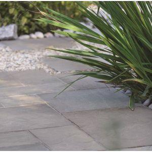 Image for Bradstone Natural Sandstone Paving Silver Grey 600X300MM 1 pk (85 slabs)
