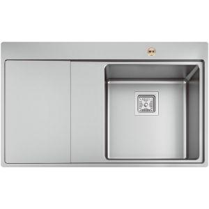 Bristan Ingot 1 Bowl Kitchen Sink Left Drainer - Stainless Steel