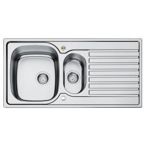 Bristan Inox 1.5 Bowl Kitchen Sink Universal - Stainless Steel