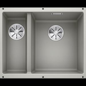 Image for BLANCO Kitchen Sink Subline 340/160-U Silgranit® Puradur® main Bowl Right - Pearl Grey