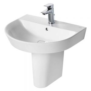 Image for Ideal Standard Concept Air Arc Basin with Semi Pedestal 550mm Wide - 1 Tap Hole
