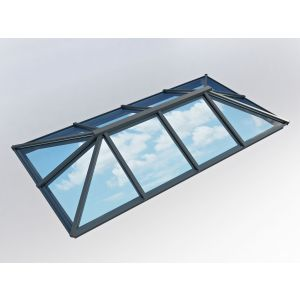 Image for Atlas Traditional Roof Lantern Window Active Blue Double Glazed - Grey/Grey