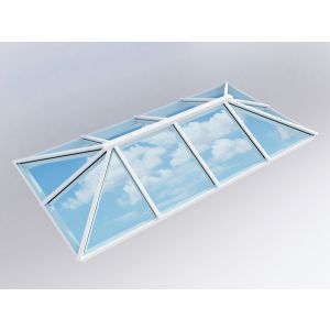 Image for Atlas Traditional Roof Lantern Window Active Blue Double Glazed - White