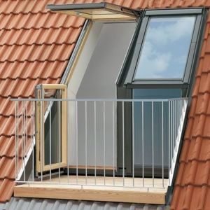 VELUX Twin Roof Terrace Right Hand For 120mm Concrete GEL M08 SE0W229