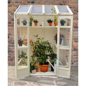 Forest Victorian Tall Wall Greenhouse with Auto Vent - 4.8ft x 6.5ft