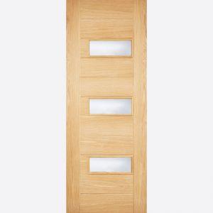 Image for LPD Warmer Door Portomaso Oak Glazed External Door