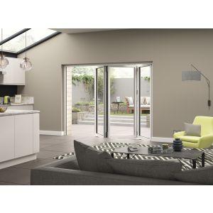 Image for JCI White Aluminium Pre Finished External 3 Bifold Doors Left Opening