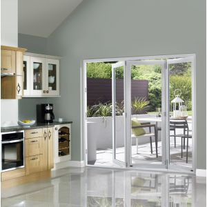 Image for JCI White Pre Finished External Slimline 3 Bifold Doors - 2090mm x 1790mm