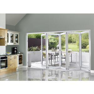 Image for JCI White Pre Finished External Slimline 5 Bifold Doors - 2090mm x 3590mm