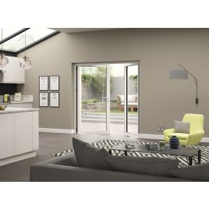 Image for JCI White Aluminium Pre Finished External French Door Opening Out - 2090mm x 1790mm