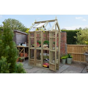 Forest Victorian Walk Around Greenhouse with Auto Vent - 3.1ft x 7.5ft
