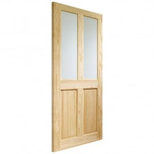 Image for XL Joinery Victorian 4 Panel Internal Clear Pine Door with Clear Glass