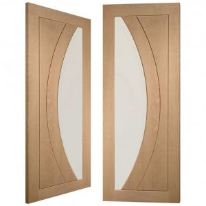 Image for XL Joinery Salerno Internal Oak Rebated Door Pair with Clear Glass