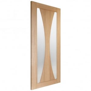 Image for XL Joinery Verona Internal Oak Fire Door with Clear Glass