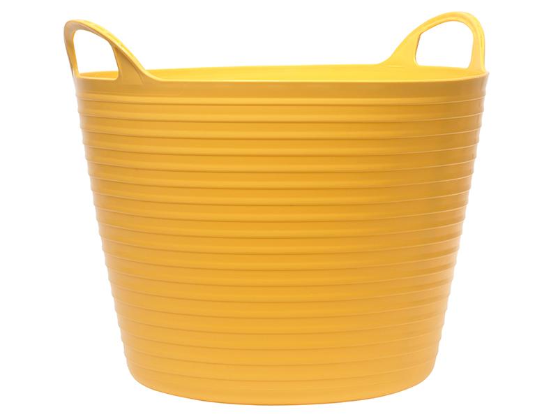 Faithfull Heavy-Duty Polyethylene Flex Tub 60 litres Yellow