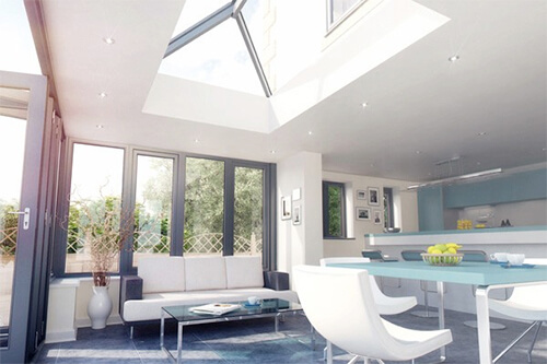 CONTEMPORARY GREY ROOF LANTERN