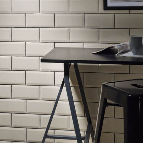 Verona Metro Gloss Bone Ceramic Wall Tile