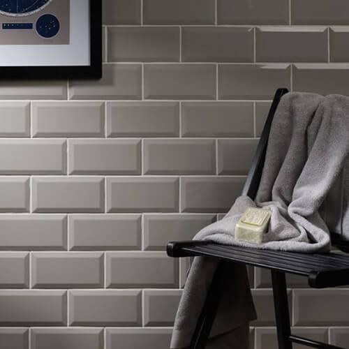 Verona Metro Gloss Light Grey Ceramic Wall Tile