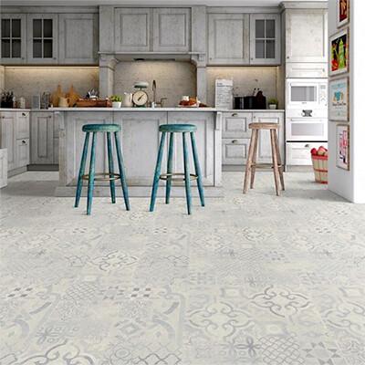 Laminate Flooring Tile Effect 8mm Retro Blue
