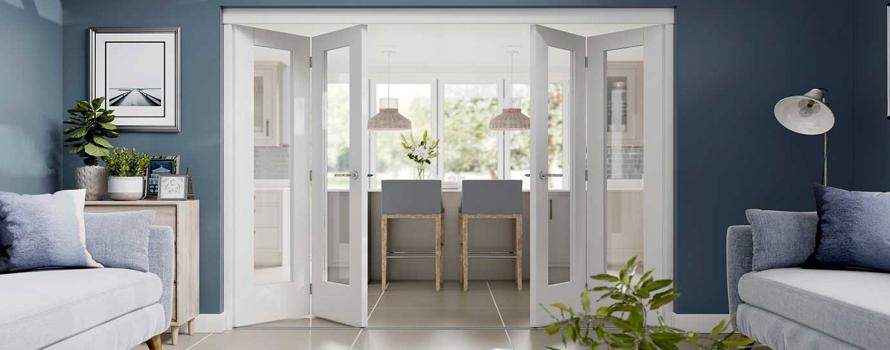 Internal Bifold Doors | Interior Bi-Fold Doors Folding Glass Oak ...